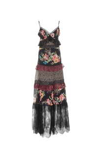 FLORAL PRINT GEORGETTE LONG DRESS, £455.80